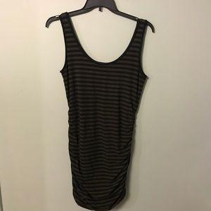 Banana Republic Brown Black Striped Tank Dress L